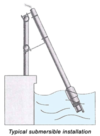 Typical submersible installation