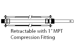 Retractable with 1 Inch MPT Compression Fitting
